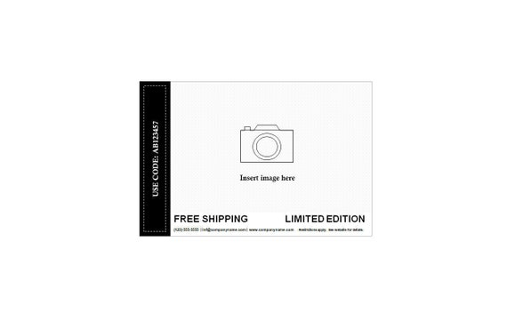 6 Front Postcards Template Editable Postcard Text And Image