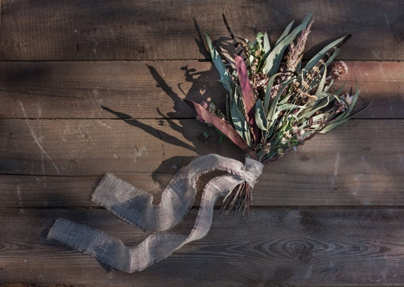 Dried Flower Bouquet Eucalyptus Dried Flowers Arrangement Etsy