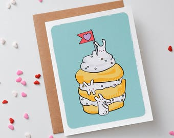 Blank Note Card | Cupcake Birthday Card | Invitation