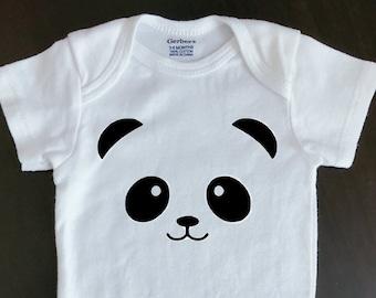 2406982444 Panda baby onesie