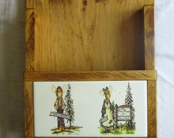 Merry Mooses, Moose, country, cabin, key ring holder, key ring rack, mailbox, mail holder, wooden mail box, decorative tile, brass . hooks