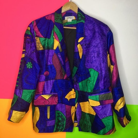 80s Picasso Abstract Blazer