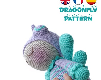 Crochet doll pattern dragonfly amigurumi doll pattern crochet toy pattern crochet doll pattern amigurumi crochet dragonfly pattern soft toy