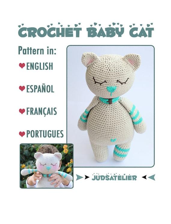 Gato Patrón crochet español animales amigurumi gatito patrón | Etsy