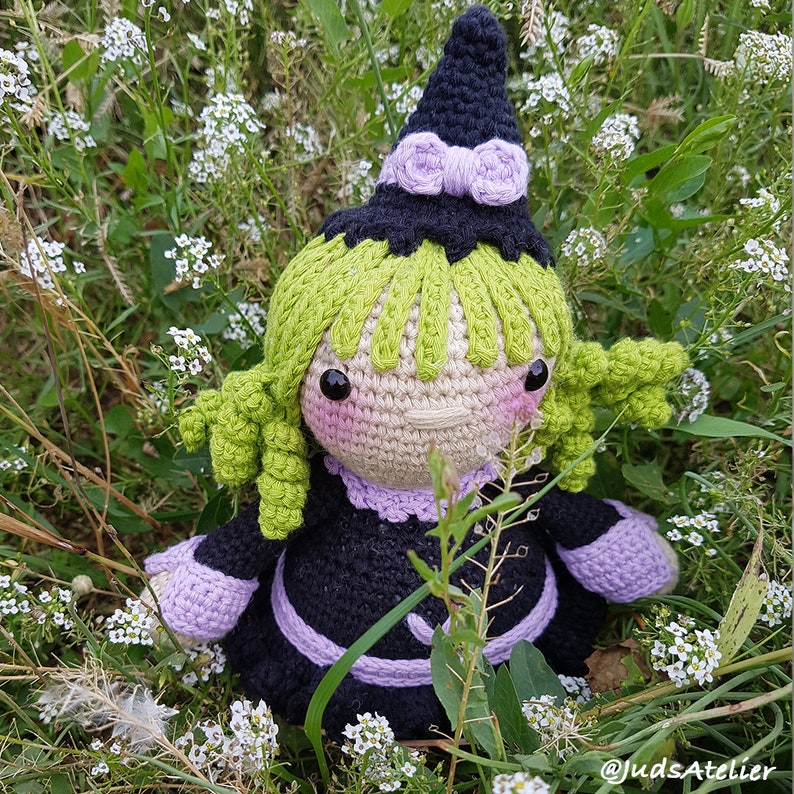 Halloween Crochet Witch Doll Amigurumi Free Patterns & Paid - DIY ... | 794x794