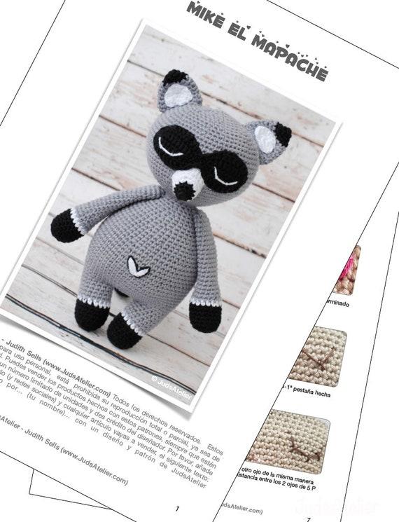 Raccoon animal pattern amigurumi pattern crochet | Etsy