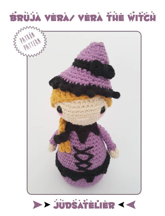 Patrón ganchillo Halloween Set de 3 patrones de bruja | Etsy