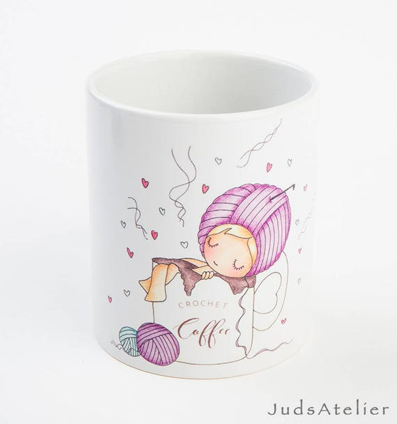 Taza de café crochet regalo para tejedoras Navidad te | Etsy
