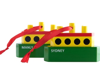 Manly Sydney Ferry Australia Souvenirs Christmas Ornaments Keepsakes, Travel Souvenirs, Overseas Gifts, Down Under Gifts