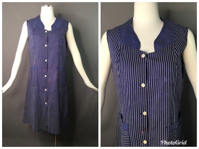 046def7abfc Vintage 30s factory worker dress smock Ralph Lauren Vintage | Etsy