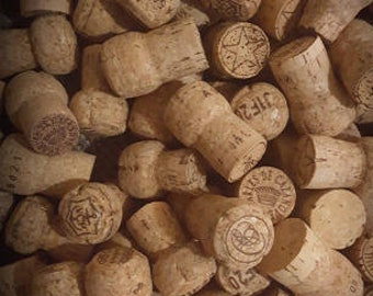 50 Used Natural Champagne Corks, No Wine or Synthetics