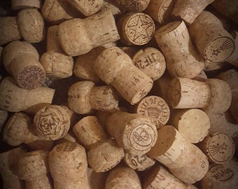 100 Used Natural Champagne Corks, No Wine or Synthetics