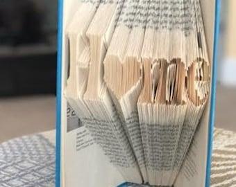 Home - Folded Book Art - Heart - Housewarming - Housewarming Gift - New Home