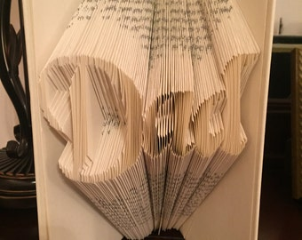 Dad - Folded Book Art - Fathers Day Gift - Gift for Dad - Unique Gift - Popular Gift - Birthday Gift