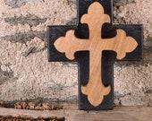 Cette Chunky Christian Cross est idéale pour le montage mural, elle est fabriquée avec amour en utilisant le pouvoir écologique. 3 tailles