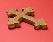 150mm OAK Christian Celtic Cross - Croix Celtique Chrétienne en chêne - fabriqué à la main en France