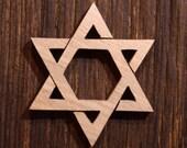The Star of David handmade of OAK - L'étoile de David - fabriqué à la main en france - en chene