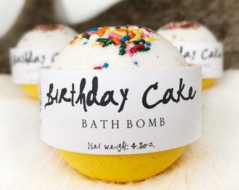 Birthday Cake Bath Bomb For Kids