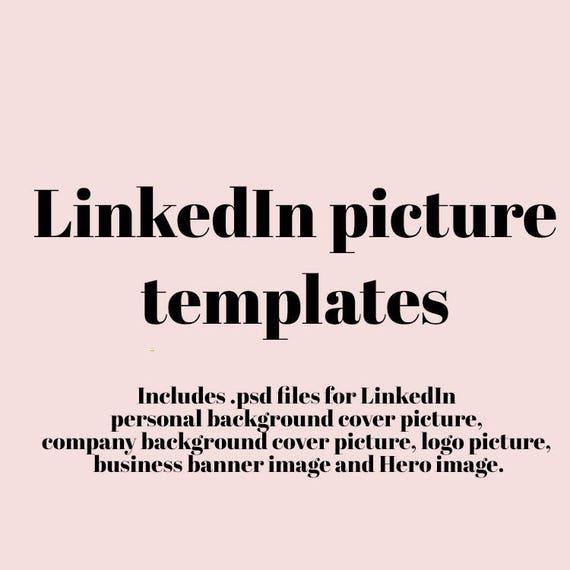 Items Similar To Linkedin Picture Templates Psd Files
