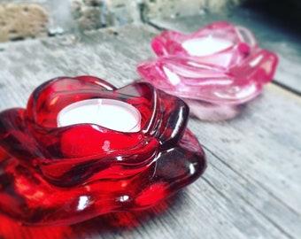 Tea Light Soy Candles BONUS: Tea Light Candle Rose Holder