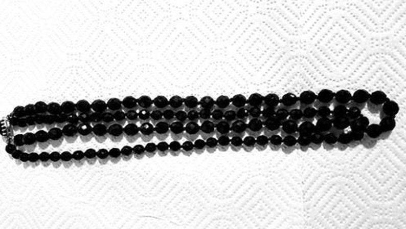 Black Austrian crystal Necklace