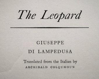 The Leopard Giuseppe di Lampedusa 1960 - Vintage hardback book - Second hand books