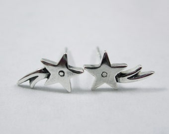 Shooting Star Sterling Silver Studs