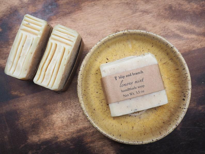 lemony mint handmade soap image 0