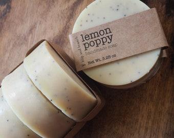 lemon poppy with lemon and litsea cubeba essential oils and organic poppy seeds