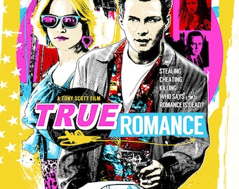 b25694035db TRUE ROMANCE - Poster art yellow - unframed photo print and top quality  hand varnished box framed canvas wall art print