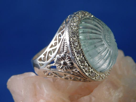 Sterling Silver March Birthstone Aquamarine /& .02 CT Diamond Ring Size 5 to 10