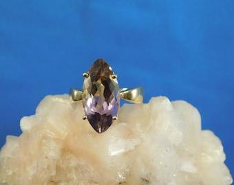 Huge Custom Marquise 4.53 ct. Ametrine Ring 14k Yellow Gold