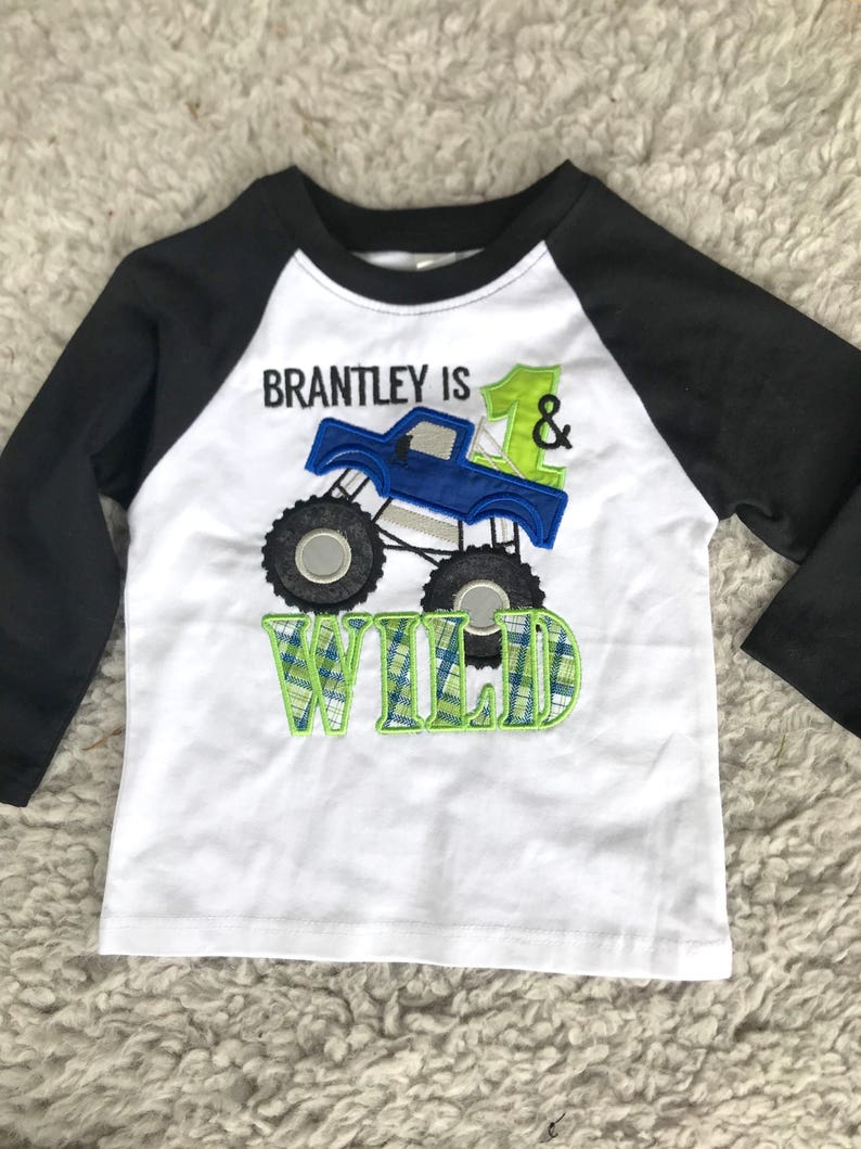 2da5ff41 Monster Truck Birthday Shirt Monster truck birthday party | Etsy