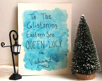 Queen Lucy Quote Watercolor