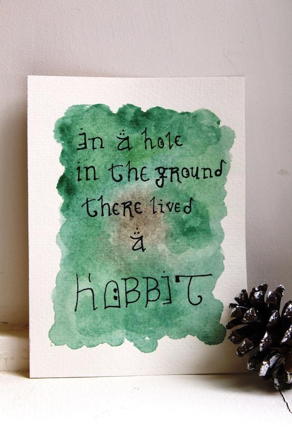 the hobbit quote watercolor