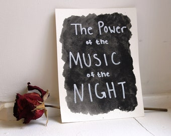 Music of the Night Watercolor