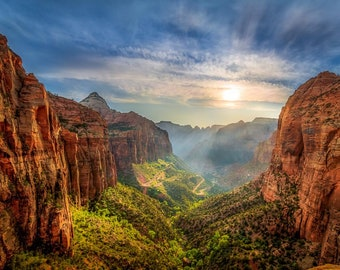 Canyon Overlook at Sunset - Zion National Park Photograph