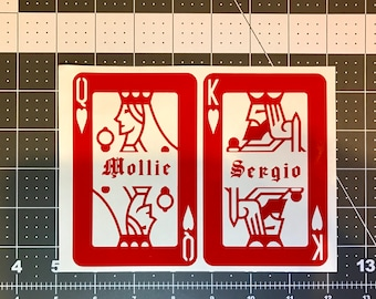 Personalized Playing Card Decal!