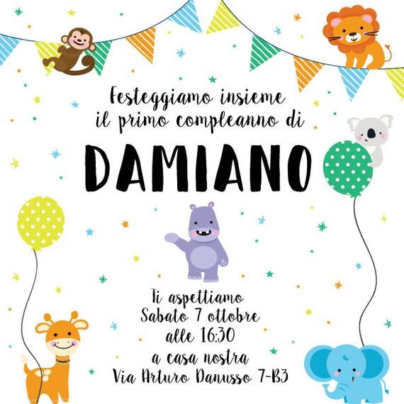 Party Kit Animalsbirthday Party Party Invitation Etsy