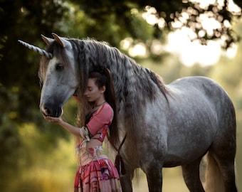 Custom made unicorn for ponies 20 cm, unicorn horn for ponies