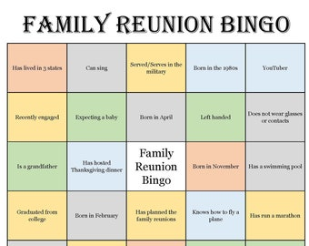graphic relating to Printable Family Reunion Games identified as Family members reunion Etsy