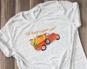 Fall Shirt - Vintage Truck Shirt - Pumpkin Vintage Truck Shirt - Autumn Shirt - Pumpkin Patch Shirt - Happy Fall T-Shirt - Pumpkin T-Shirt