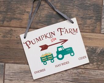 Pumpkin Farm Door Sign - Pumpkin Door Sign - Farmhouse Door Sign - Pumpkin Sign - Farmhouse Decor - Farm Sign - Fall Decor - Fall Sign