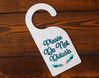 Do Not Disturb Door Sign - Do Not Disturb Door Hanger - Please Come In Door Sign - Office Door Sign - Door Knob Sign - Newlywed Door Sign