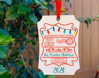 Santa Sack Gift Tag - Santa Sack Ornament - Personalized Santa Sack Tag - North Pole Express Ornament - Santa Ornament