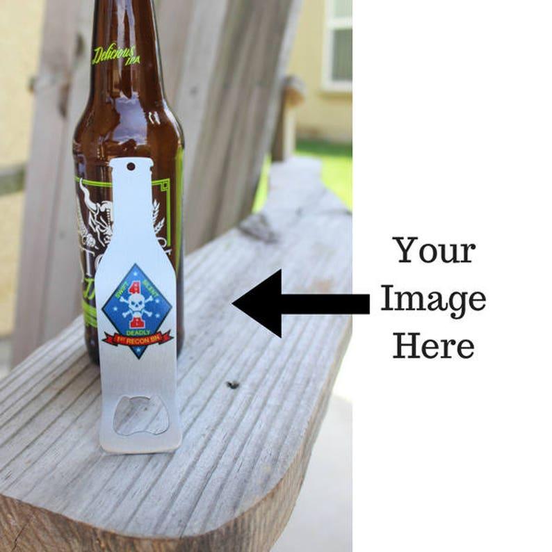Personalized Beer Bottle Opener  Beer Lover Gift Logo Bottle image 0