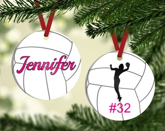 Volleyball Ornament - Volleyball Player Ornament - Volleyball Player Gift - Ornament For Volleyball Player - Personalized Christmas Ornament
