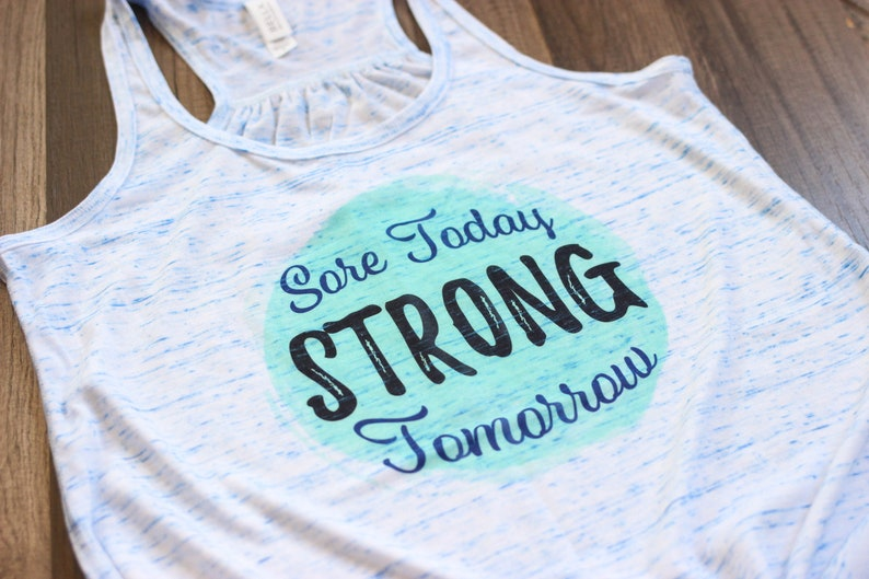 Sore Today Strong Tomorrow  Workout Tanks For Women  Fitness image 0