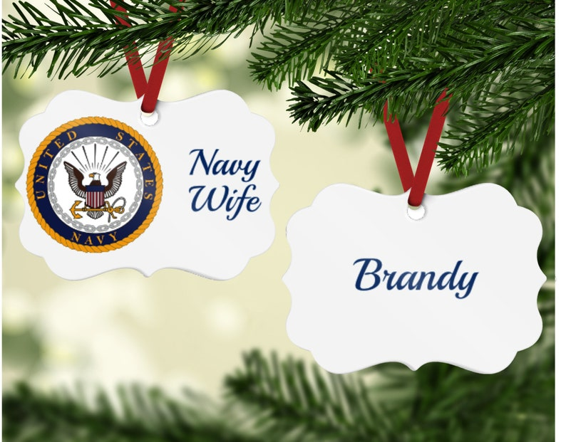 Navy Wife Ornament  Navy Wife Gift  Navy Spouse Gift Navy image 0