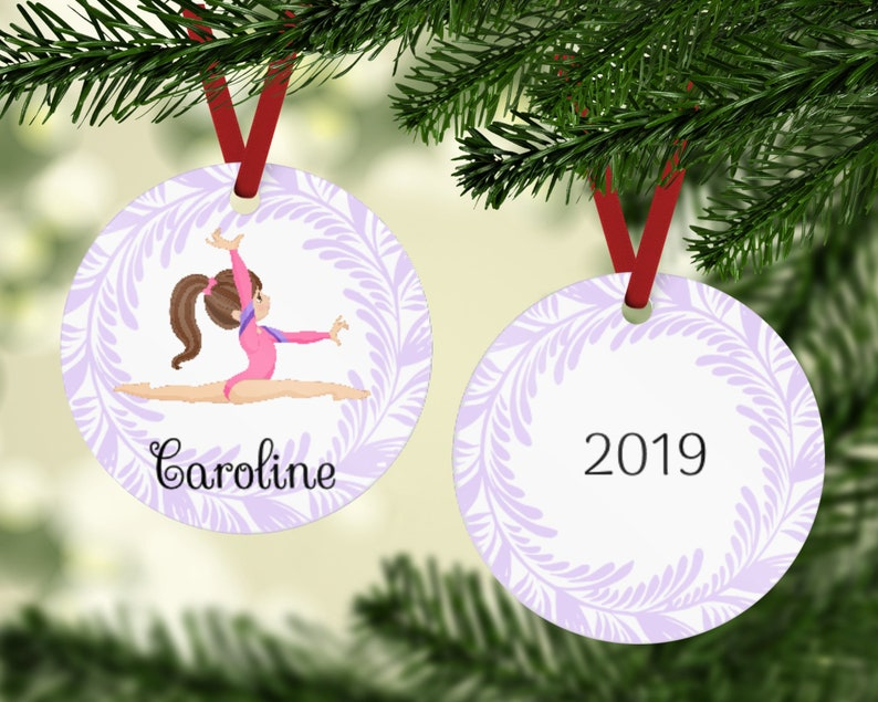 Gymnast Ornament  Gymnastics Ornament  Gymnast Christmas image 0